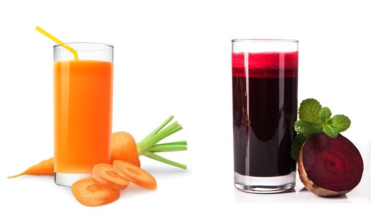 Морковной и свекольный соки
