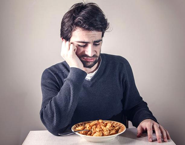 У мужчины плохой аппетит