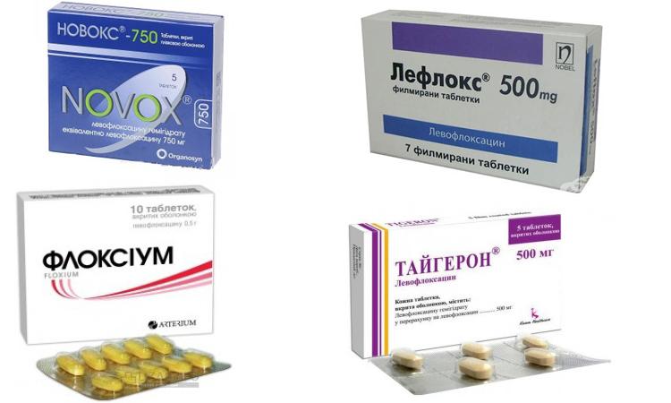 Препараты с левофлоксацином