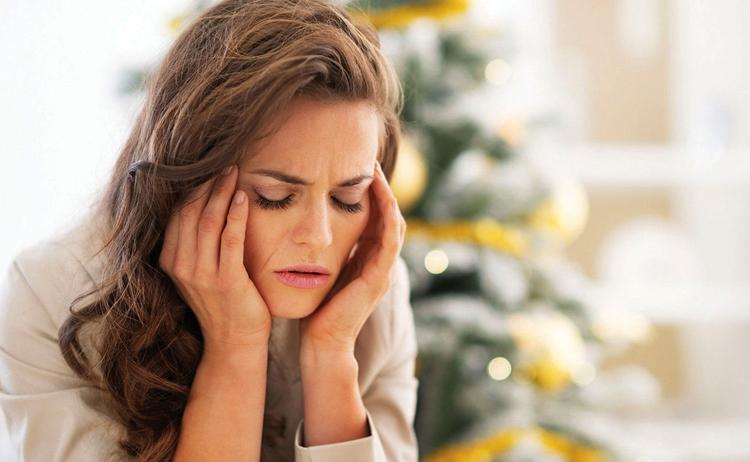 Сильный стресс у женщины