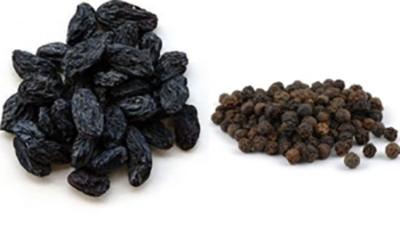 Изюм и черный перец